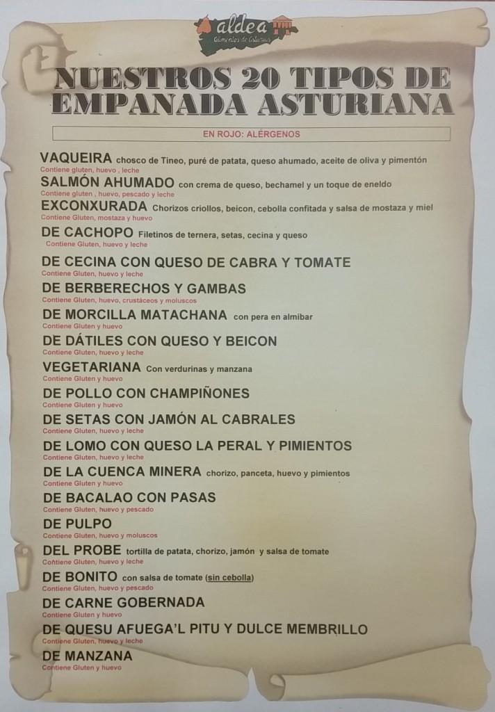 Listado Empanadas Abril 2017 - Sin precios